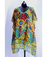 Free Shipping,Free Size kaftan,Boho,emblished work,beach wear ,Sheer Caftan,Hipp - $28.49
