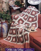 Will O' The Wisp Granny Square Afghan Tns Crochet PATTERN/INSTRUCTIONS/NEW - $1.77