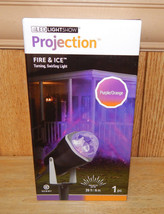 Gemmy LED Light Show Fire & Ice Swirling Projection Halloween Light Purp... - $29.01