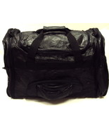 4-in-1 Patchwork Black Leather Duffle Bag w/Backpack /Messenger Bag/Fann... - $29.35