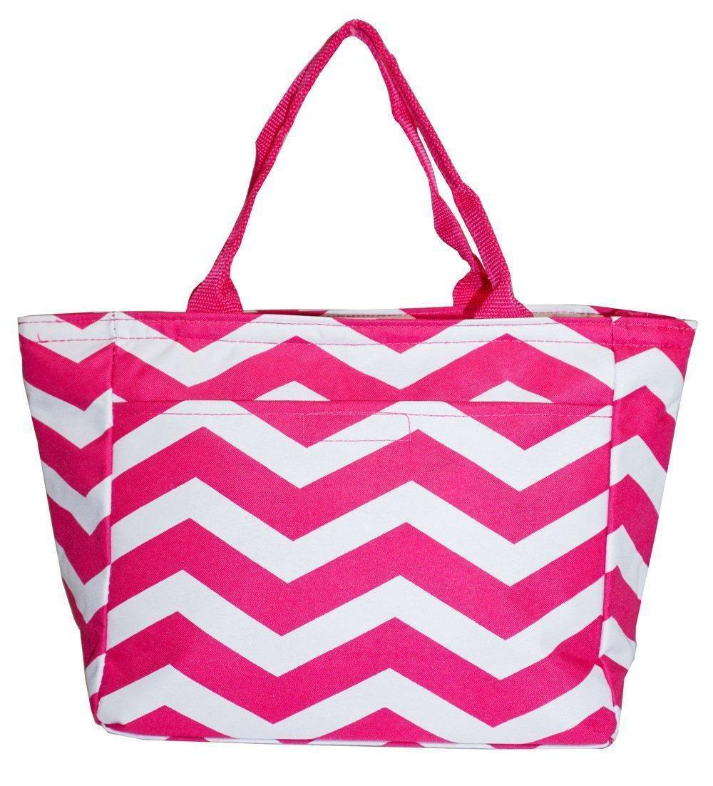 Sachi pink insulated fashion lunch tote 32