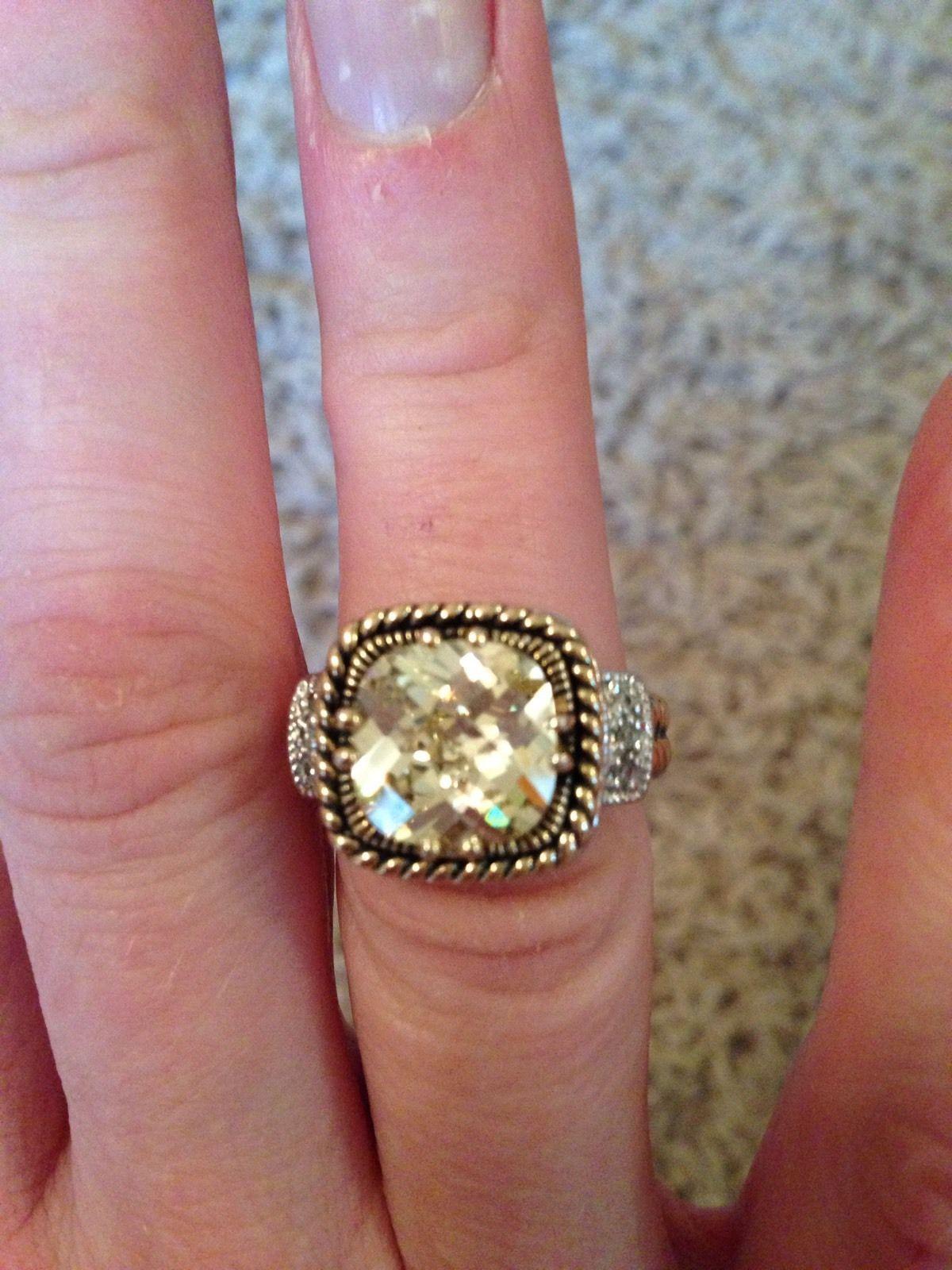 Lia Sophia Lemon Chiffon Ring Size 6 and 50 similar items