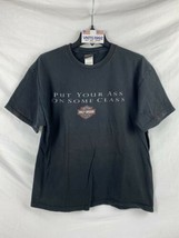 Harley Davidson Motorcycles Mens XL T-Shirt Black Put Your Ass On Some Class - $29.69