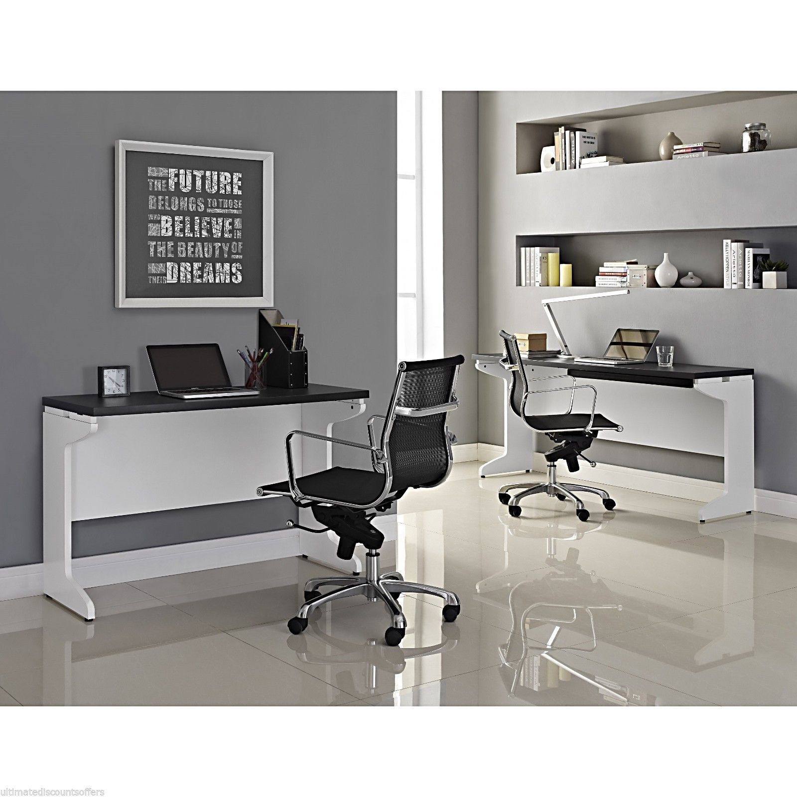 Wonderful image of Executive Office Furniture L Desk Set Wood Modern Home Large Business  with #595146 color and 1600x1600 pixels