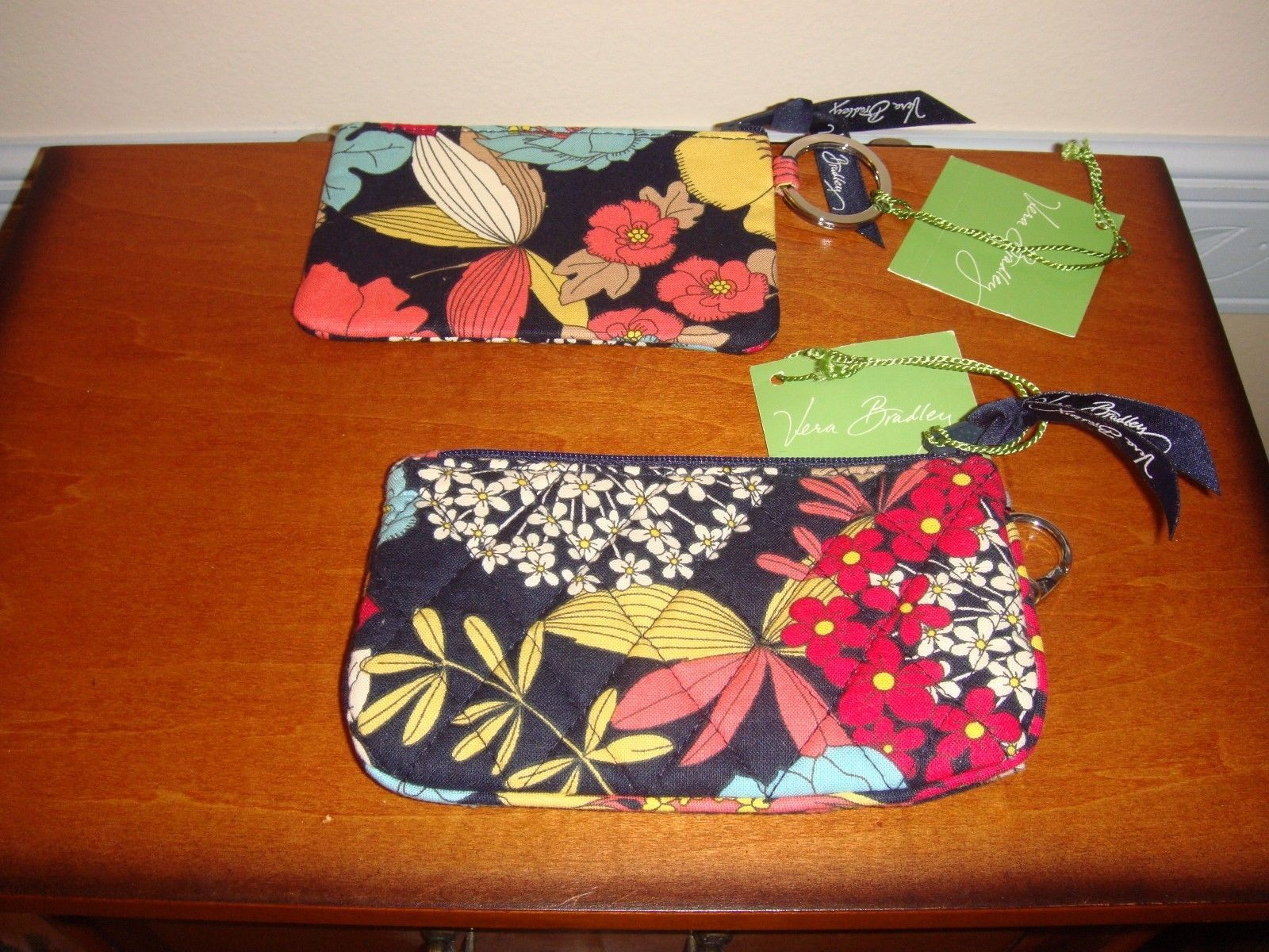 Vera Bradley Happy Snails Coin And Key Plus Zip ID Case