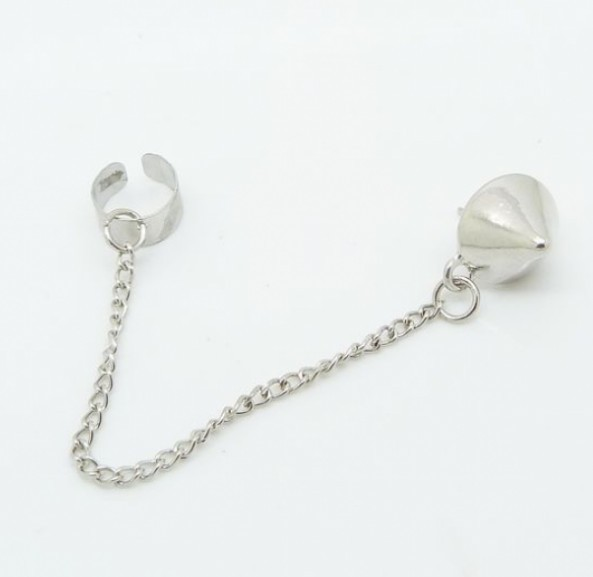 Primary image for Popular Metal Tassel Punk Style Rivet Ear Clip(Antique Silver)