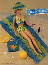 "5X Barbie 11-1/2"" Doll Beach Aerobics Exercise Time Andy The Dog Crochet Pattern image 3"