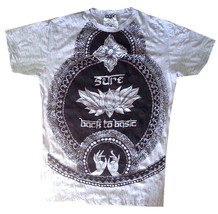lst Yoga Men T Shirt Buddha tattoo Lotus India OM Ganesh Hobo Boho  M RARE Sure - $18.80