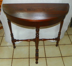 Solid Walnut Demilune Table / Entry Table by D.H. Fritts of Chicago - $499.00
