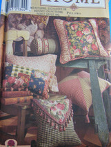Simplicity HOME 8044 make your own designer PILLOWS in 12 styles - $5.88