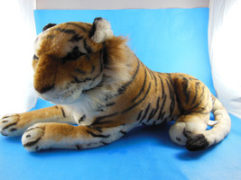 """ACE Life-like Tiger Plush Play by Play Realistic 15"""" + 12"""" tail - $15.25"""