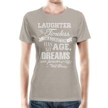 Kraft Laughter is Timeless Walt Disney Quote Women Cotton Blend T-Shirt - $32.99+