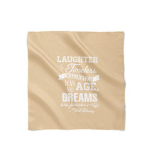 Orange Laughter is Timeless Walt Disney Quote Satin Style Scarf - ₨1,558.60 INR+