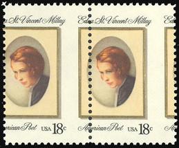1926 Misperforated ERROR pair - 18¢ Edna St. Vincent Millay Mint NH  Stu... - $24.95