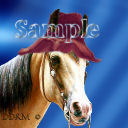 Avatar Horse with hat Digital Designed Pro Quality