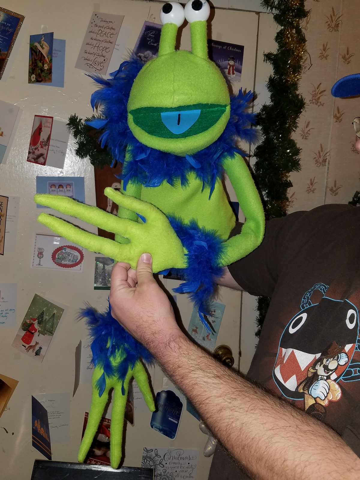 MADE TO ORDER: Professional Roswell the Alien Muppet Style Ventriloquist Puppet