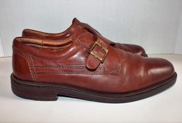 JOHNSTON & MURPHY 20-4530 Men's Shoes Size 10 M Brown Leather Monk Buckl... - $32.71