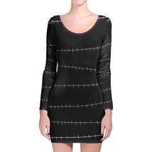 Stitches Black Jack Skellington Longsleeve Bodycon Dress - $36.99+