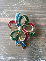 Danecraft Gold Tone Enamel Brooch - $24.74