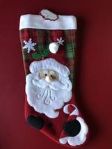 Trim a home 18 inch Santa Christmas stocking - $8.90