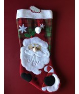 Trim a home 18 inch Santa Christmas stocking - $8.90