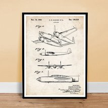 HOWARD HUGHES XF-11 MILITARY AIRPLANE DESIGN 1944 US PATENT ART RETRO PO... - $24.95