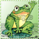 Primary image for Avatar Frog waving Digital Designed Pro Quality