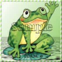Avatar Frog waving Digital Designed Pro Quality - $3.00