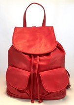 New Made in Italy Red Leather Backpack Shoulder Bag Handbag Purse - $109.95