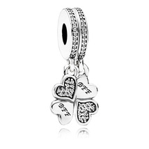 925 Sterling Silver Best Friends Forever Dangle Charm Bead QJCB963 - $22.66
