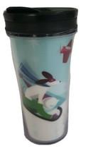 Starbucks Christmas tumbler  Xmas Dog Sled 8 Mug 2011 present 8 ounce ki... - $9.90