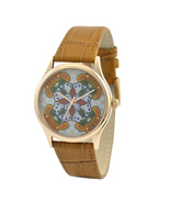 Ceramic Tile Pattern Watch in Rose Gold Watch for Men Watch for Women - $36.00