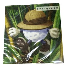 Evergreen Be the Ball Golf Paper Cocktail Napkins 20 Pack 3 Ply 10 by 10... - $4.41