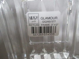 "Two Mikasa 2x2 Photo Frames Free Standing Crystal  ""Glamour"" image 5"