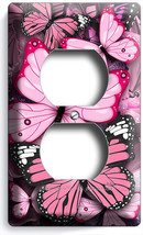 PINK BUTTERFLIES DUPLEX OUTLET WALL PLATE COVER BABY GIRL ROOM NURSERY A... - $8.09