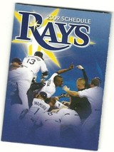 2009 Tampa Rays Pocket Schedule - $5.00