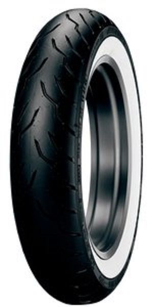 New Dunlop American Elite Wide White Wall WWW MT90B-16 Front Tire