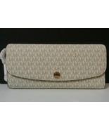 NWT MICHAEL MICHAEL KORS Juliana Large Flap Wallet PVC Leather Vanilla M... - $139.99