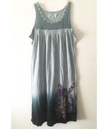 Y London Juniors Tattoo Print Tank Top Dress w/ Rhinestones • Black Gray... - $9.85