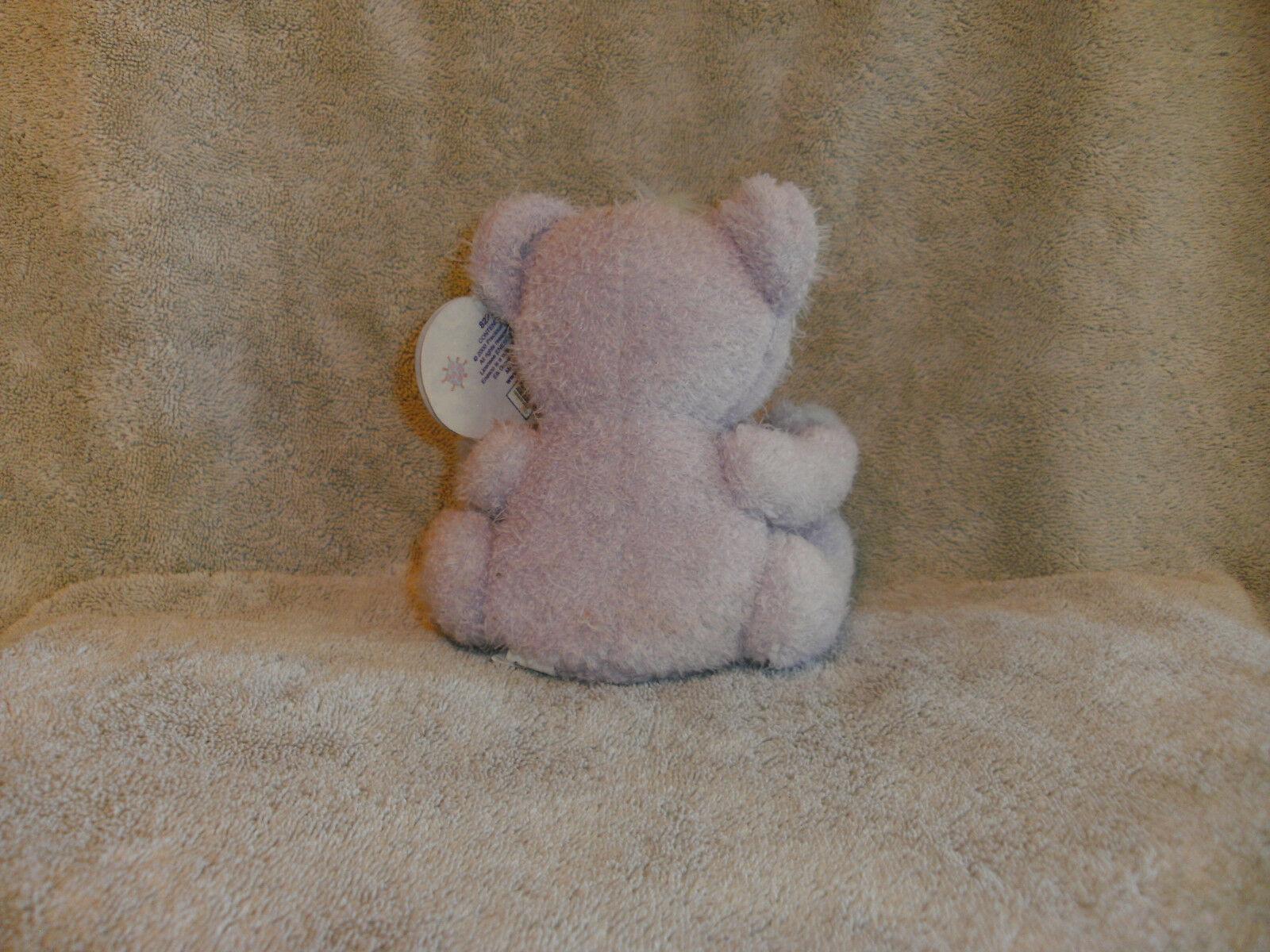 "Enesco Precious Moments Sharing Bear Plush New  Purple 6"" Stuffed Animal Toy image 5"