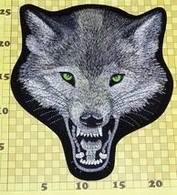 "Wolf Back Patch 9"" x 10"" Sew / Iron On Biker Vest Thai Silk Embroidered ... - $27.62"