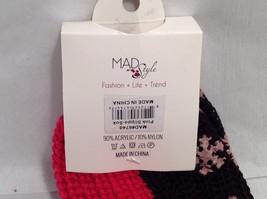 "Mad Style ""Slippa-Sok"" Cozy Knit Socks Brown Pink Blue Slip Resistant Appliques image 3"