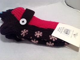 "Mad Style ""Slippa-Sok"" Cozy Knit Socks Brown Pink Blue Slip Resistant Appliques image 5"