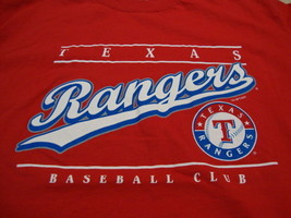 Vintage MLB Texas Rangers Major League Baseball Fan Dynasty Apparel T Shirt M - $19.64