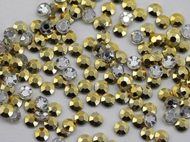 3mm SS12 Gold Plated A58 Acrylic Rhinestones - 200 PCS - $5.56
