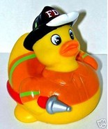 FIREFIGHTER RUBBER DUCKY - The ORIGINAL Fireman Rubber Duckie - $3.95