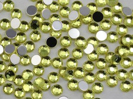 3mm SS12 Yellow Jonquil A12 Acrylic Rhinestones - 200 PCS - $4.87