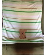 Snugly Baby Puppy Pooch Puppy Green Receiving Blanket Throw 30 x 36 So S... - $13.99