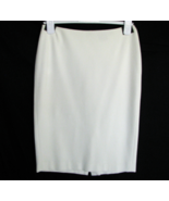 Anne Klein Skirt 2 Ivory Lined Back Zipper with Kick Pleat VERY NICE - $20.75