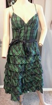 Vtg 90's Betsey Johnson NY Tartan Plaid Goth Grunge Tiered Party Dress 6 - $68.39